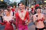 Grande manufestation à l'occasion du grand prix, manifestation toute nue, 7 juin