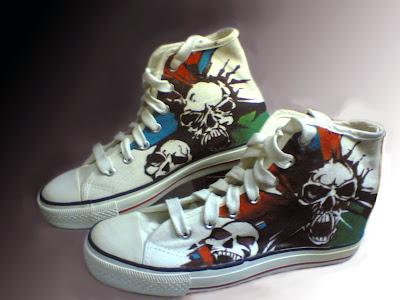 Sepatu Lukis Tengkorak,sepatu lukis cowok,sepatu lukis,sepatu lukis cowok,sepatu,lukis