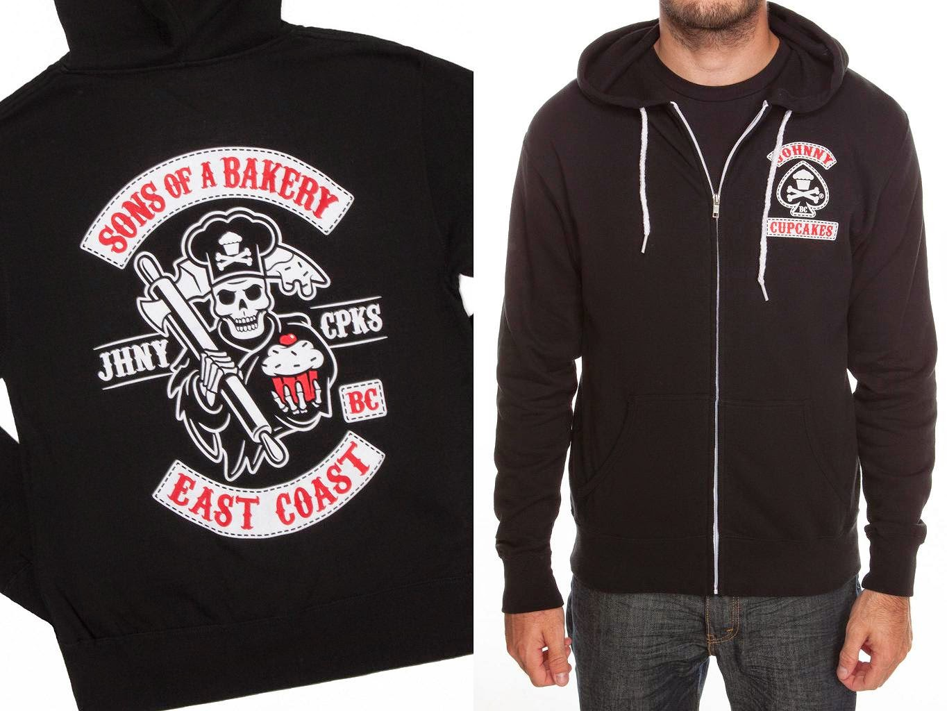"""Sons of a Bakery"" Sons of Anarchy East Coast Hoodie by Johnny Cupcakes"