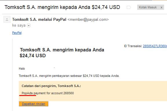 Cara Mendaftar dan Mendapatkan Uang dari PopAds