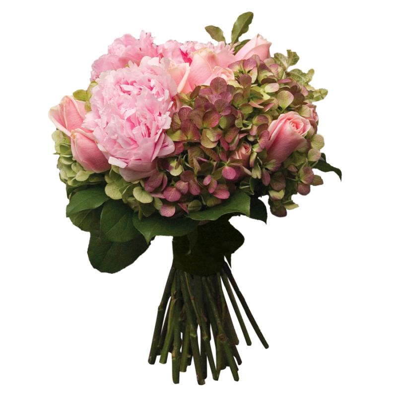 多個花種組合而成的結婚花球