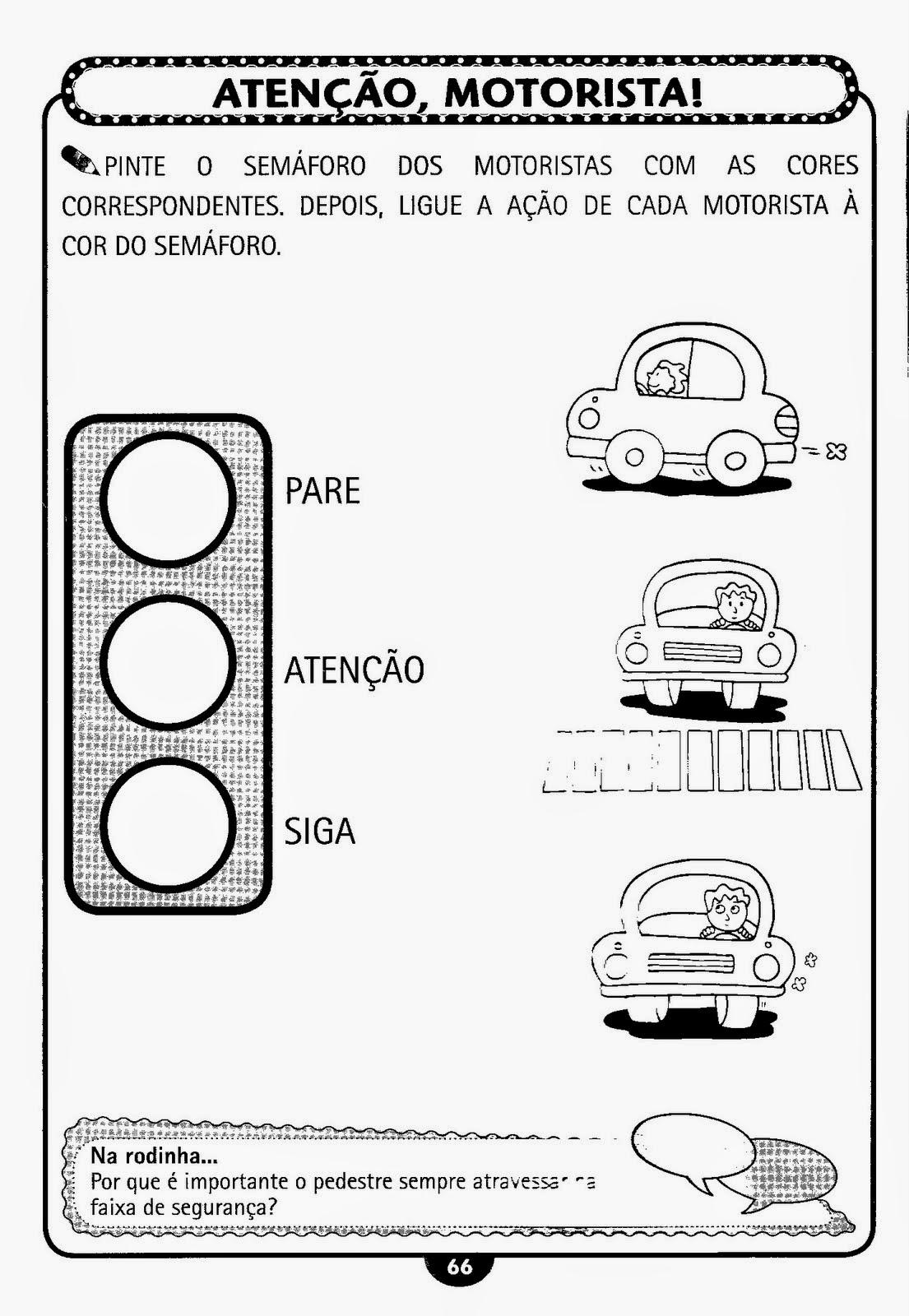 Populares ESPAÇO EDUCAR: Semana do Trânsito - Atividades sobre trânsito e  MA85