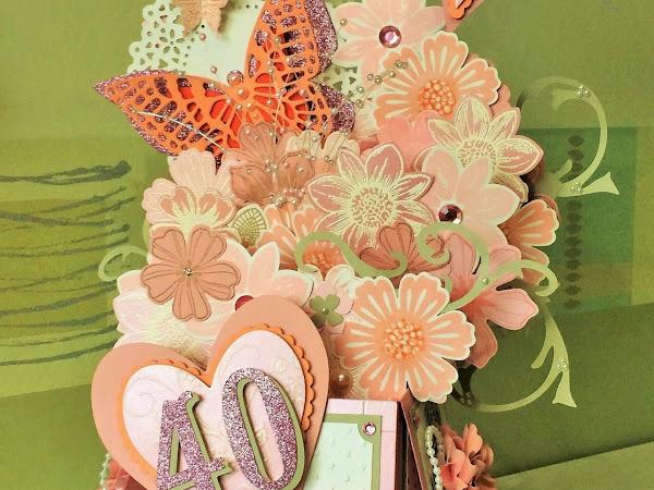 CARD-IN-A-BOX WEEK - Pink 40th Birthday Celebration