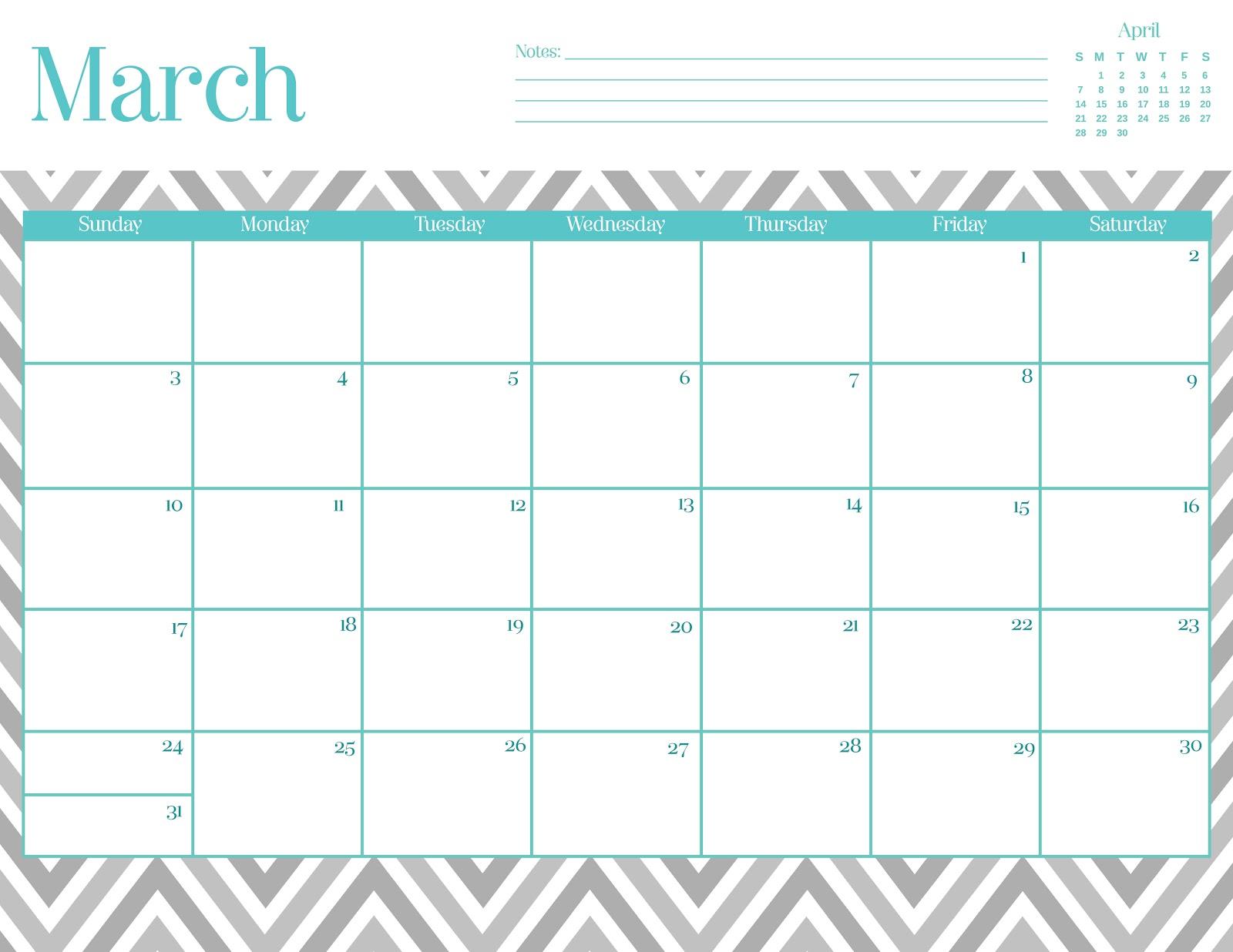 Free Printable Calendar Chevron | Calendar On Pictures
