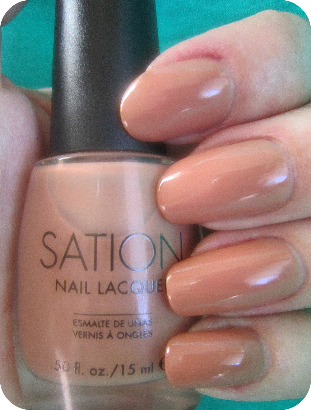Sation Cafe Con Leche Abstract Flower Accent Nail