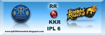 RR vs KKR IPL 6 Full Scorecard and Highlight Video