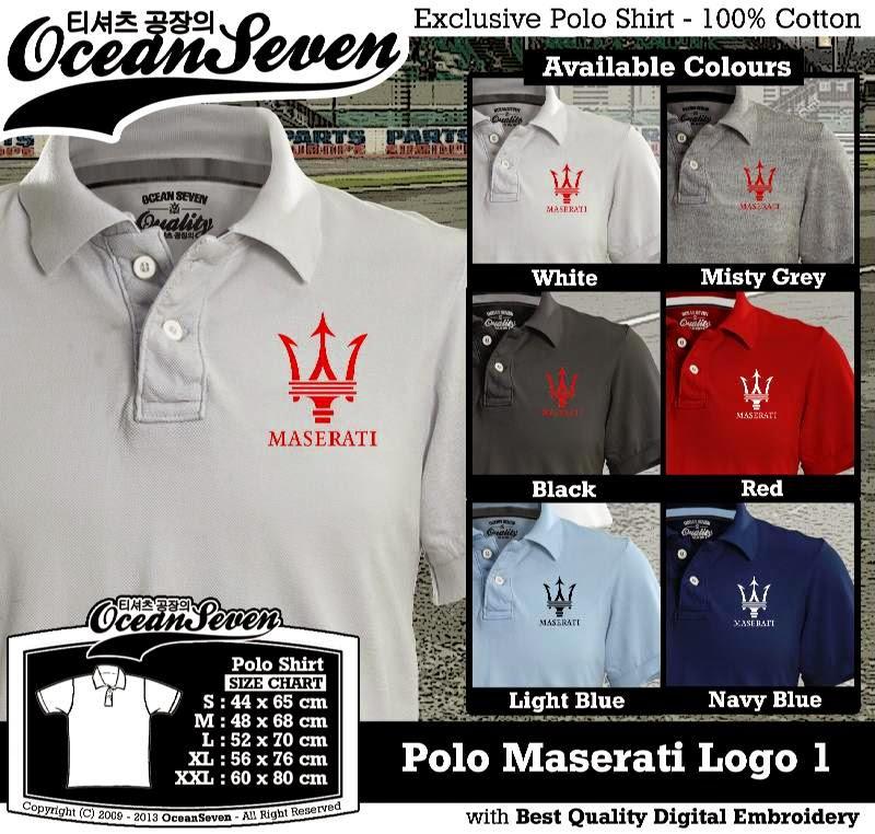 Kaos Polo Maserati Logo 1