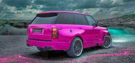 Gambar Modifikasi Mobil Range Rover Pinky