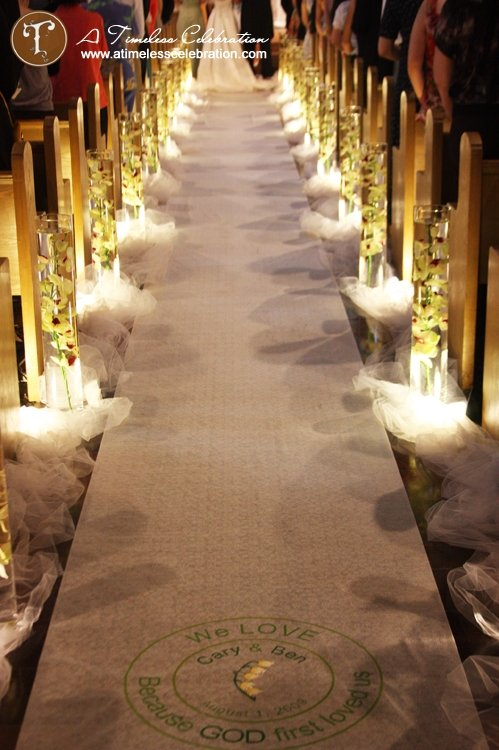 Ways to spruce up your wedding aisle runner alluring for Aisle decoration
