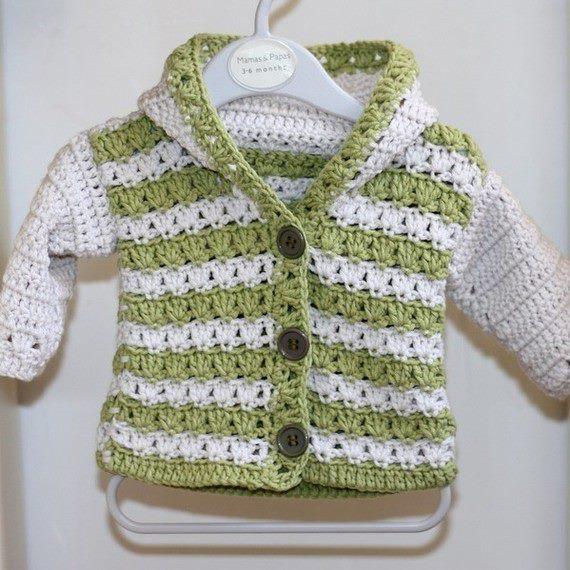 Saquito tejido a crochet para bebé - Imagui