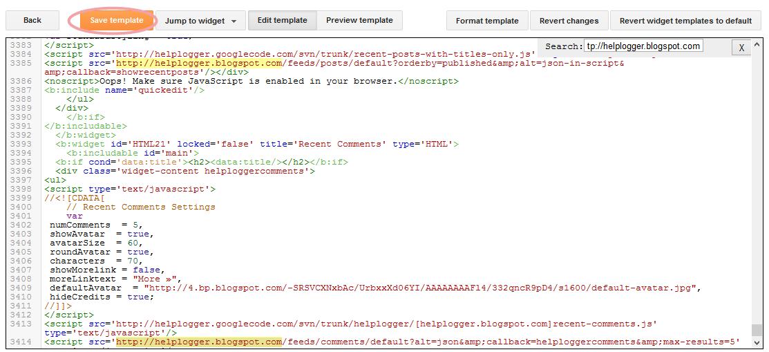 blogger template html