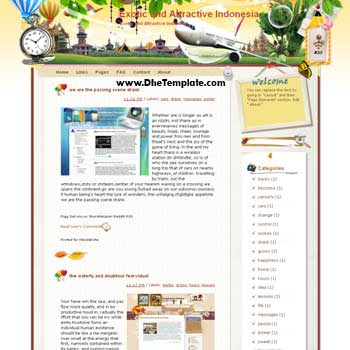 Exotic and Attractive Indonesia blogger template. template blog from wordpress. blogger template for travel blog