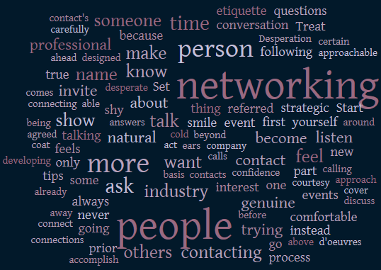 networking, networking etiquette