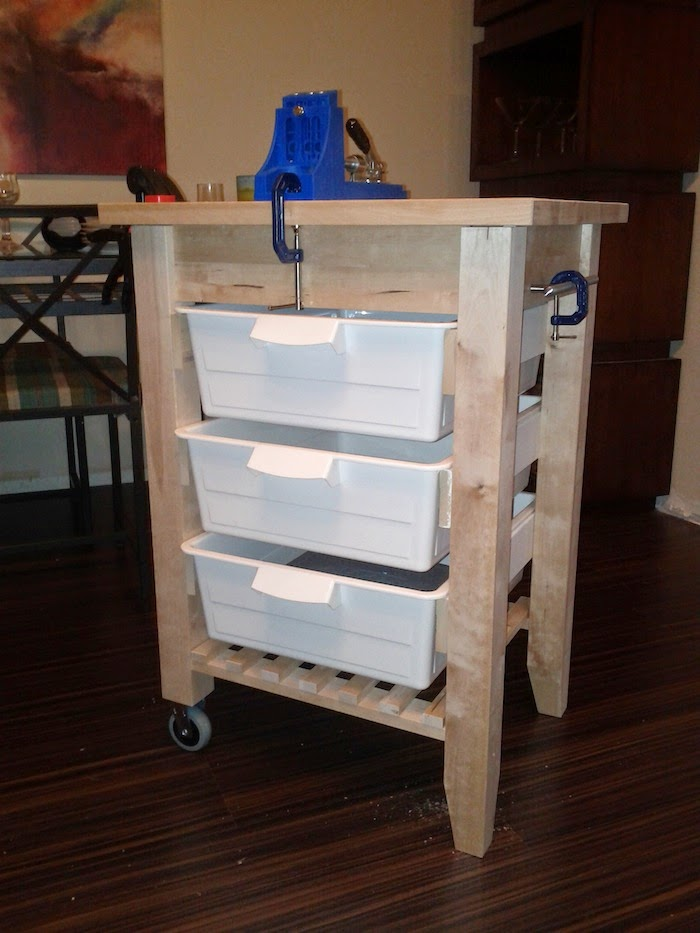 Portable workbench ikea hackers ikea hackers for Bekvam kitchen cart