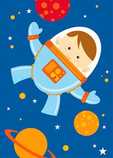 desenho de astronauta colorido