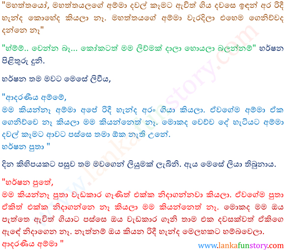 Sinhala Fun Stories-Silver Spoon-Part Two
