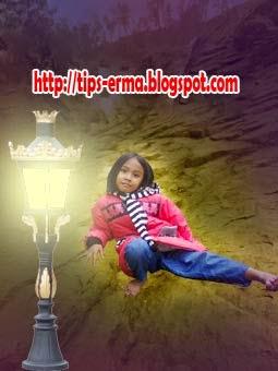 Manipulasi Photoshop Efek Cahaya Lampu