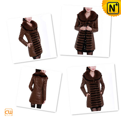 Women Brown Sheepski Coat