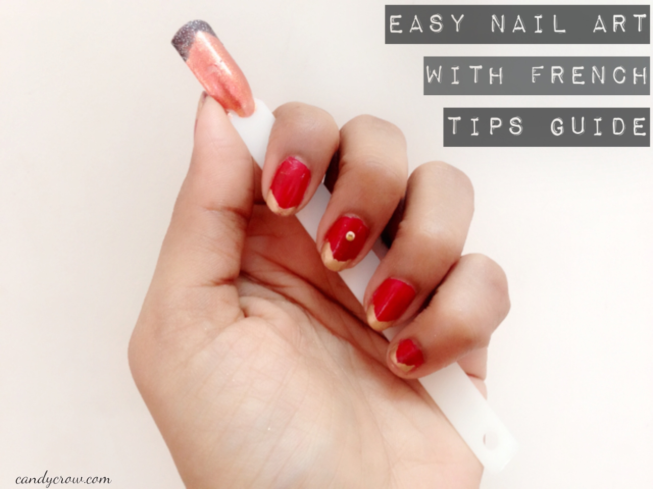 Nail Art using French Tip Guides   Candy Crow- Top Indian Beauty and ...