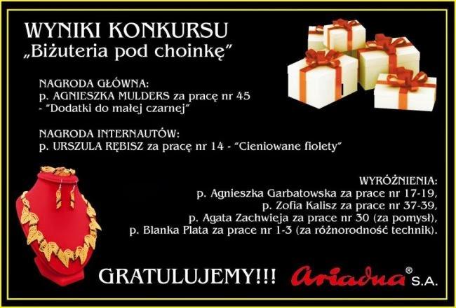 Wyróżnienie w konkursie firmy ARIADNA