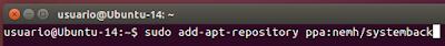 sudo add-apt-repository ppa:nemh/systemback