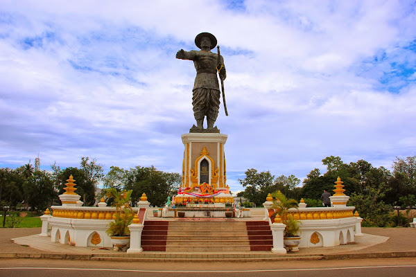 The Chao Anouvong Park in Vientiane