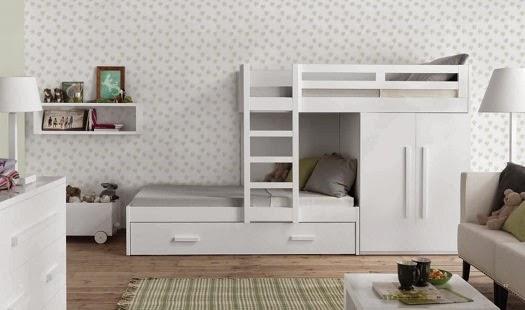 Dormitorios decorar tu casa es - Literas para habitaciones pequenas ...