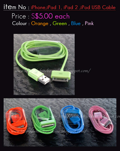 Colorful USB cable for all iphone, ipad , ipod..