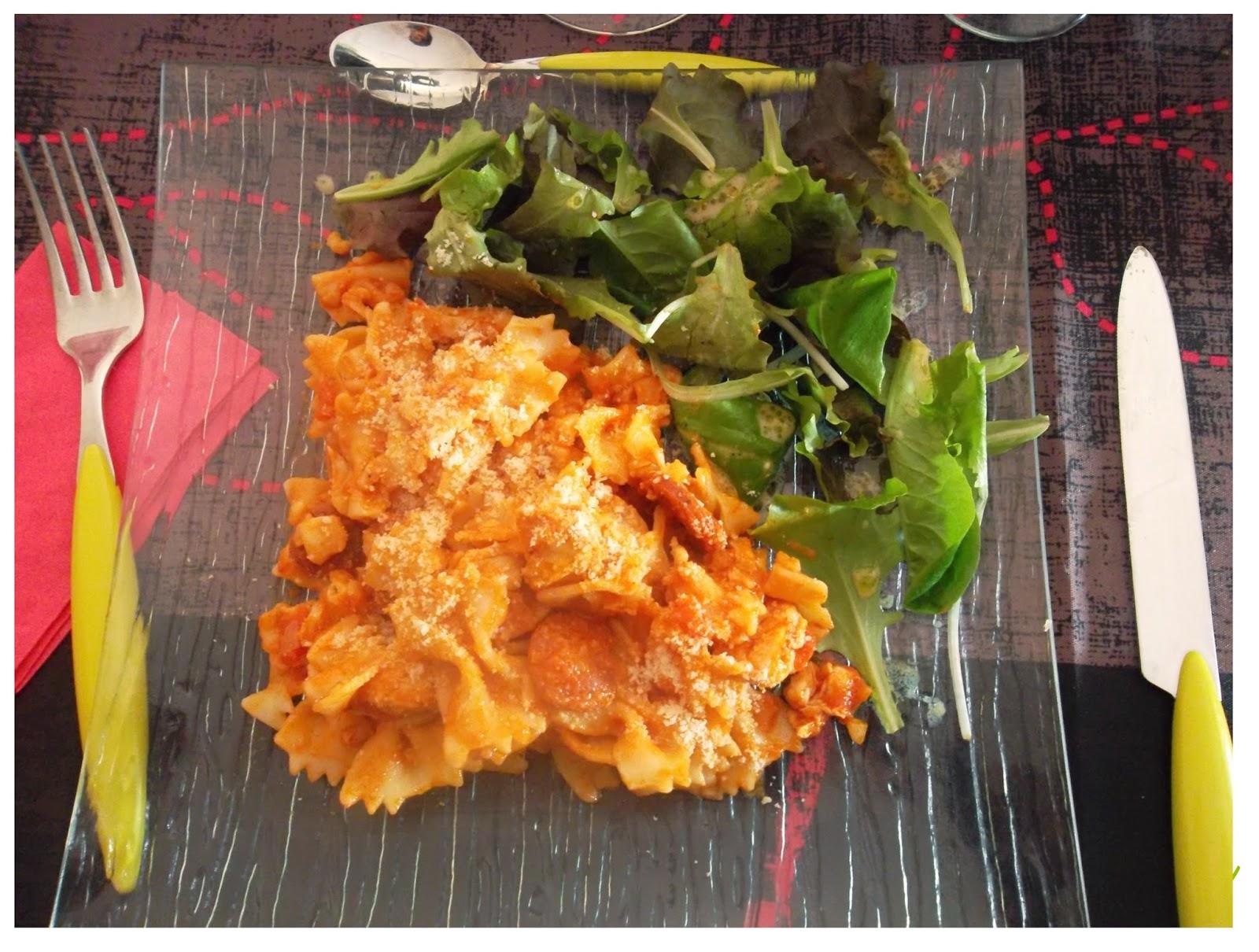 One pot pasta : Pates au poulet et chorizo