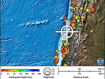 Sismos en Chile, el 31 de Diciembre 2012