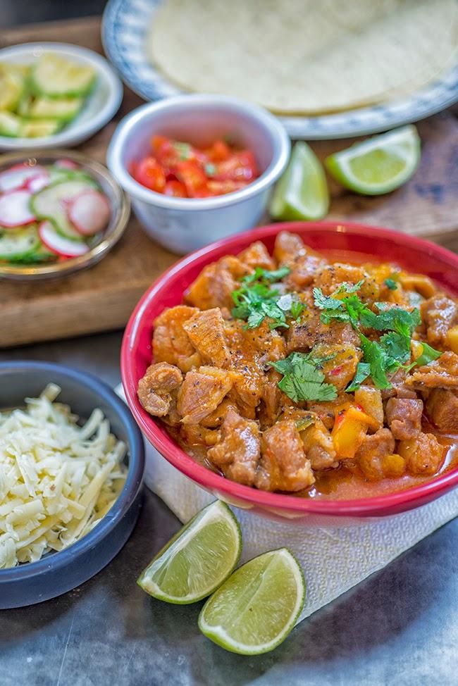 Spicy Korean pork burritos
