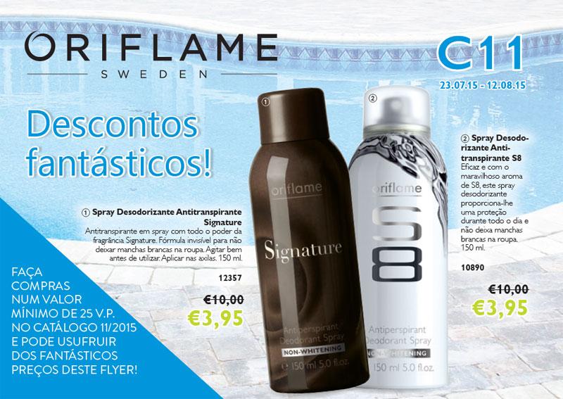 Flyer do Catálogo 11 de 2015 da Oriflame