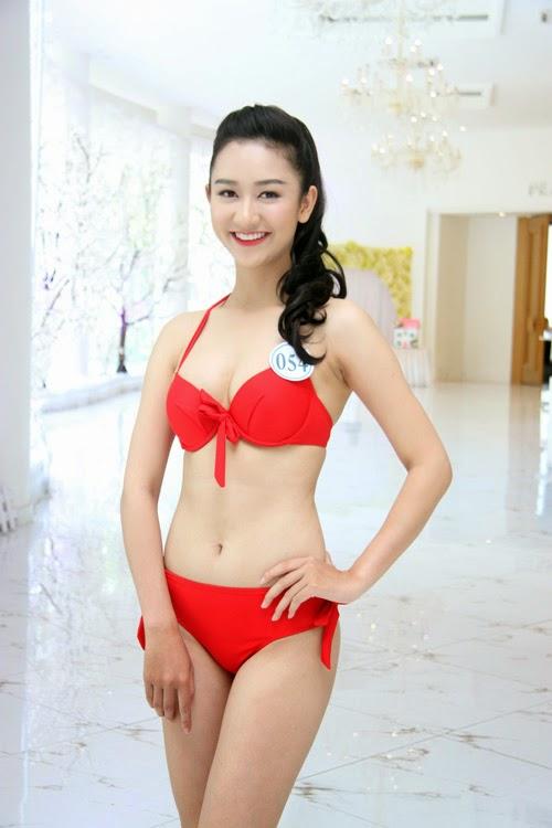 Hoa hậu Đại Dương với áo tắm|raw