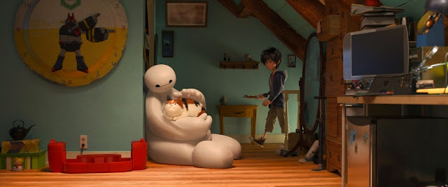 Big Hero 6 movie still baymax cat hiro