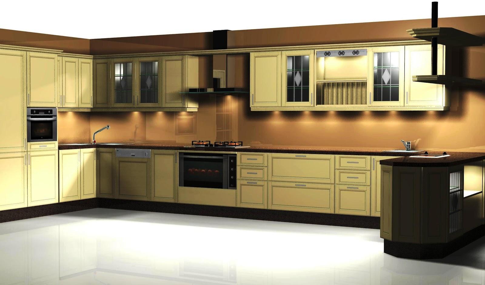 Mi cocina dise o de cocina en madera roble acabado for Cocinas de madera de roble