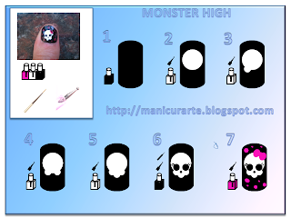 monster high nails tutorial