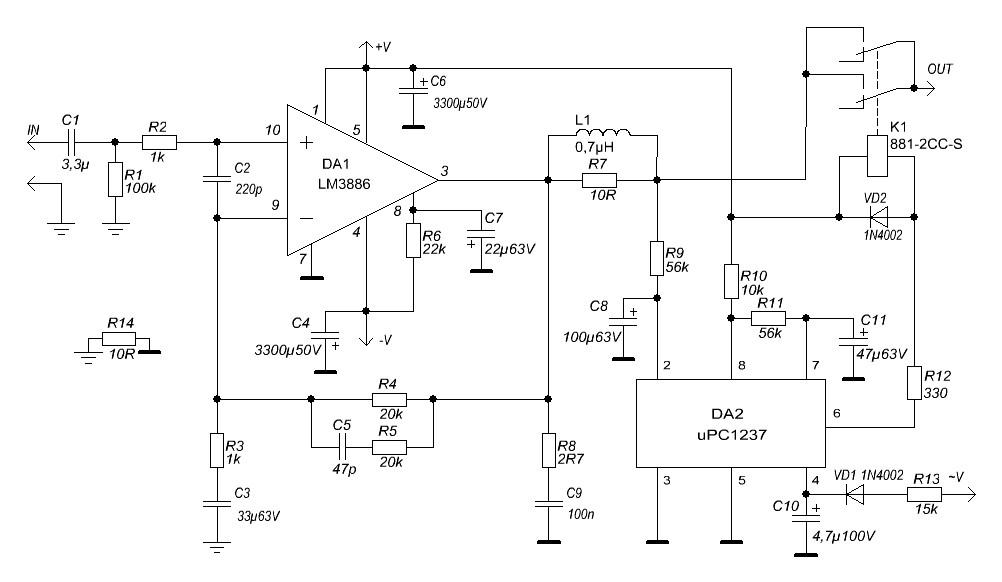 Типовая схема микросхемы lm3886 фото 296