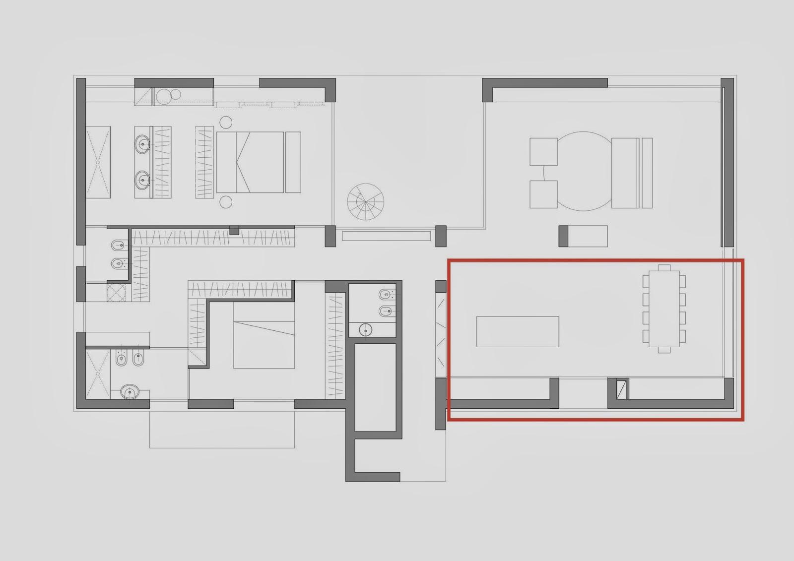 La casa dove si trova il cuore la cucina e la sala da for Costruisci il tuo progetto di casa