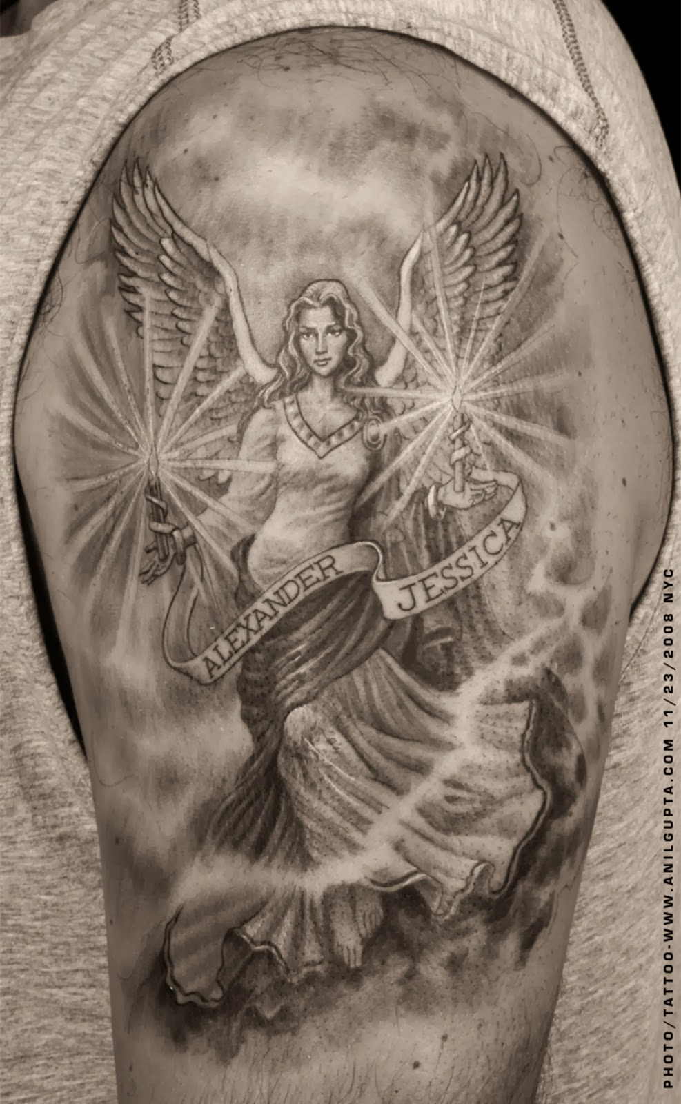 Guardian Angels Cools Tattoos Art | Tattoos Art