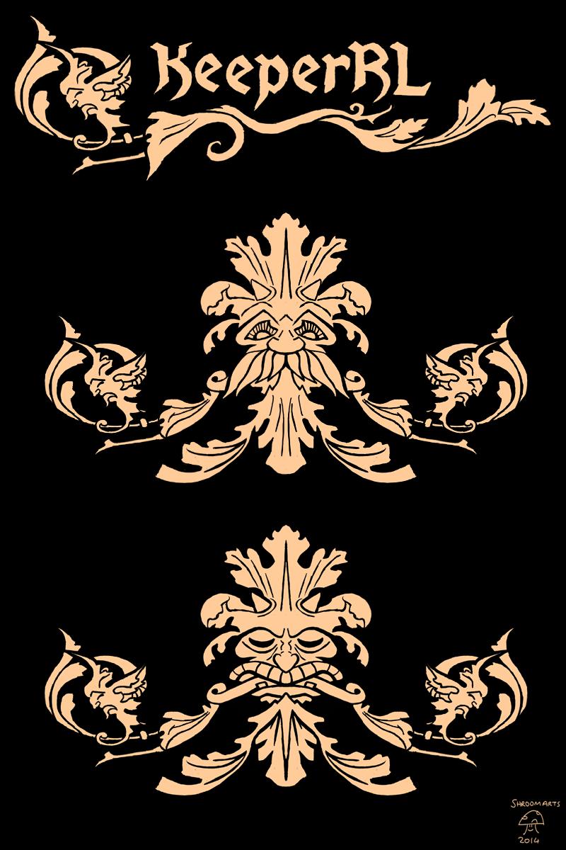 Keeper RL mask and logo concepts 2