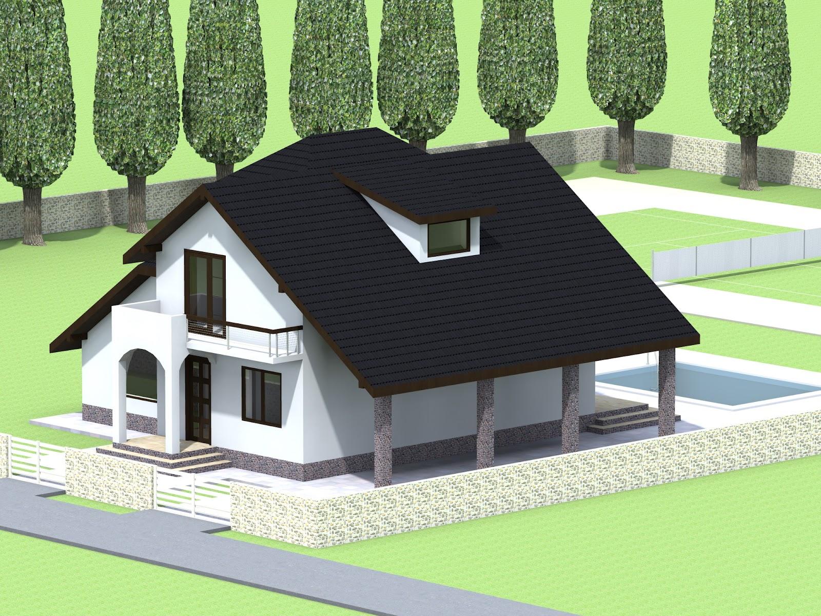 Proiecte constructii for Arhitectura case cu mansarda
