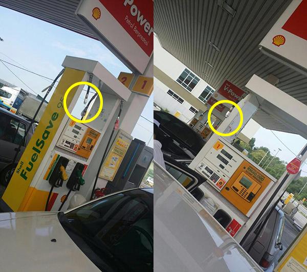 Pelanggan Mandi Petrol Shell Lepas Tangan