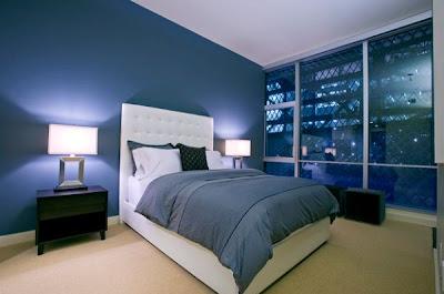 habitación azul celeste