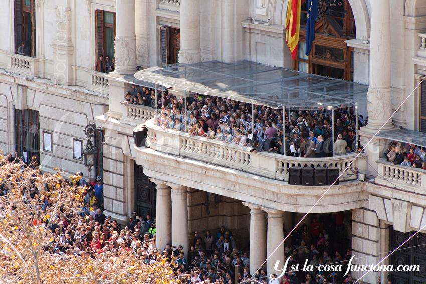 Fallera Mayor Valencia Fallas 2015 Mascletá Balcón Ayuntamiento