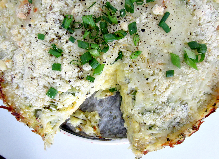 ... : THE PERFECT EASTER BRUNCH: HASH BROWN CRUST QUICHE WITH GOAT CHEESE