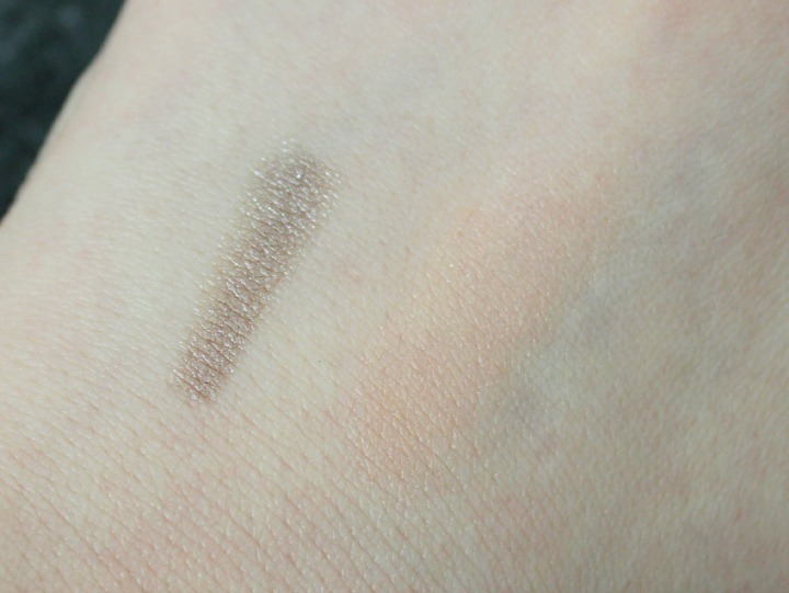 Eyeko Fat Eye Stick in Satin Taupe theBalm® cosmetics Cindy-Lou Manizer® swatch swatches