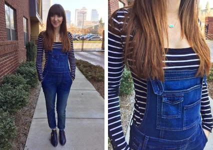 nashville fashion, nashville style, nashville blogger, kendra scott arrow head necklace, turquoise necklace, free people overalls, denim overalls, steve madden booties, free people striped henley