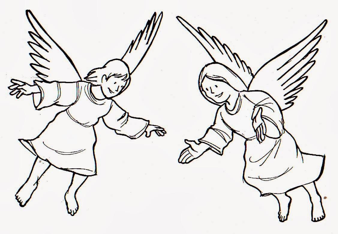 Blog Católico Navideño ®: IMÁGENES DE ÁNGELES PARA COLOREAR