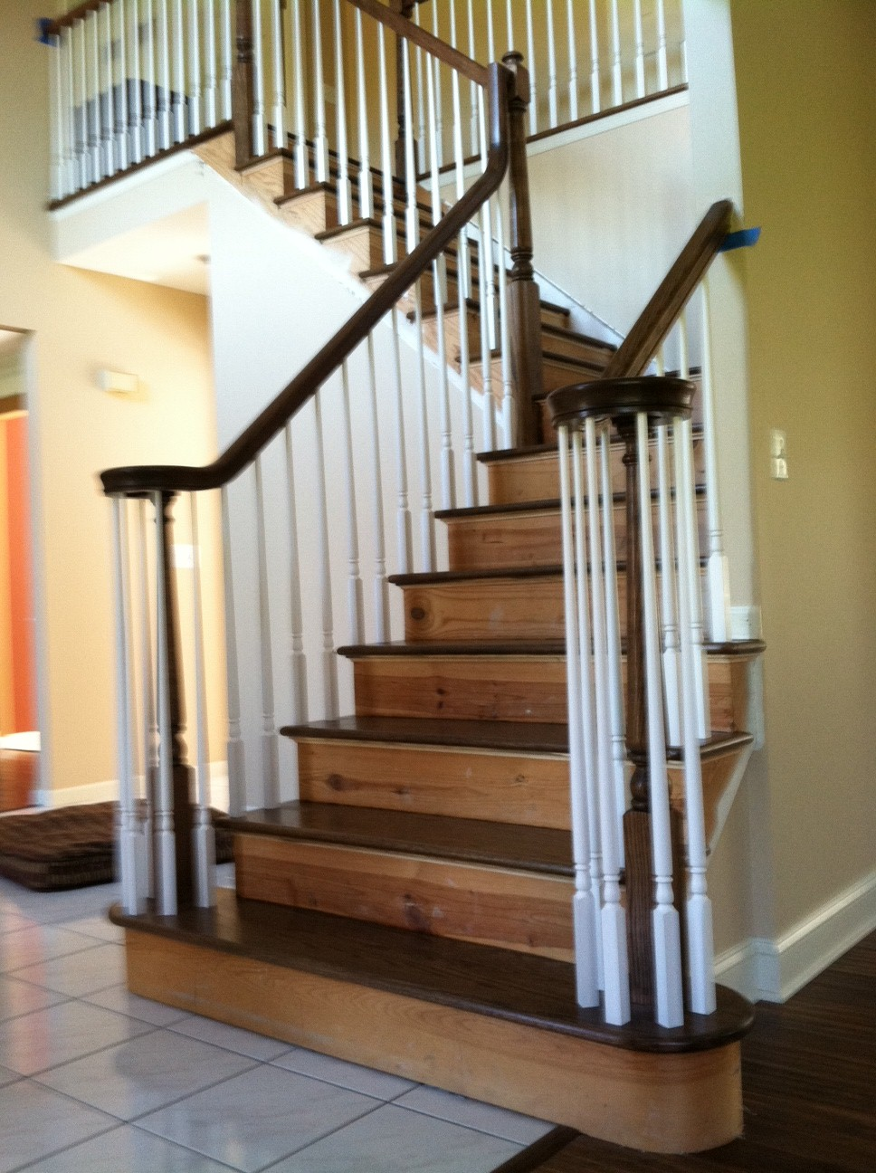 Staircase Builder   Railing And Step Treads Installed, Stained. New Jersey,  Nj
