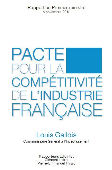 Le rapport gallois en exclusivit pacte pour la - Le comptoir de l industrie ...